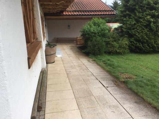 kleinstein vorher pflasterarbeiten roenheim