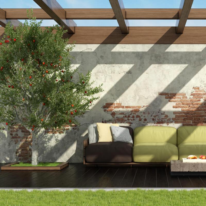 rosenehim außenanlage relax area